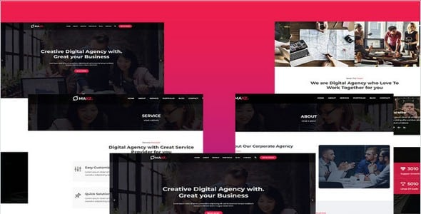 Tema Maxz - Template WordPress