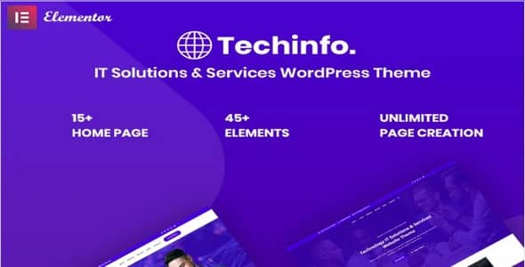 Tema Techinfo - Template WordPress