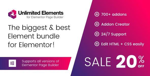 Plugin Unlimited Elements for Elementor Page Builder - WordPress