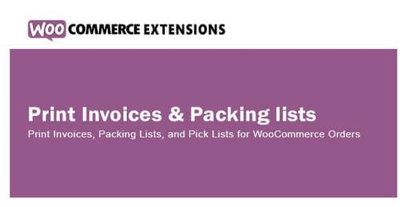 Plugin WooCommerce Print Invoices Packing lists - WordPress