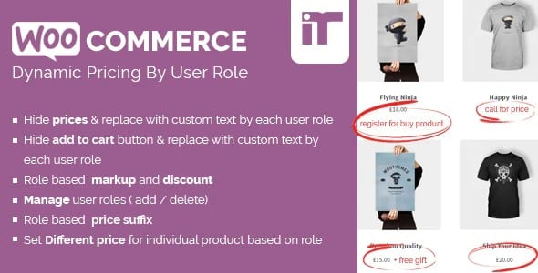 Plugin Woocommerce Dynamic Pricing By User Role - WordPress