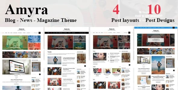 Tema Amyra - Template WordPress