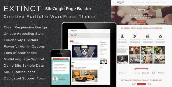 Tema Extinct - Template WordPress