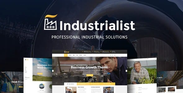 Tema Industrialist - Template WordPress