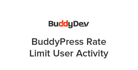 BuddyPress Rate Limit User Activity - WordPress