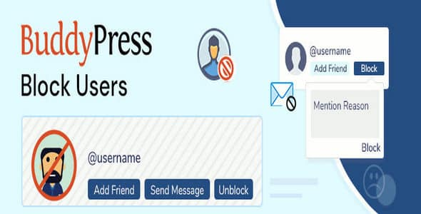 Plugin BudddyPress Block Users - WordPress