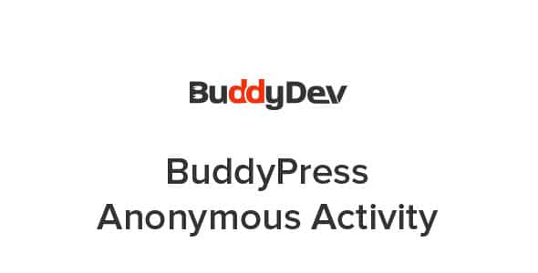 Plugin BuddyPress Anonymous Activity - WordPress