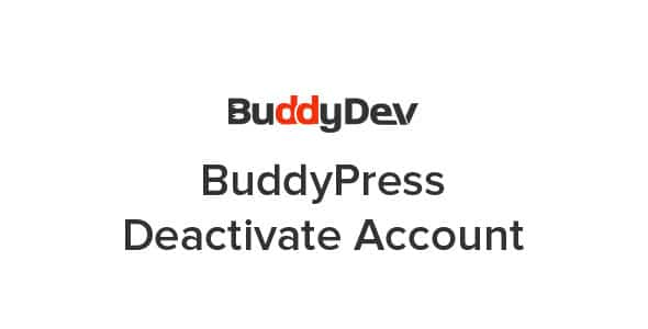 Plugin BuddyPress Deactivate Account - WordPress