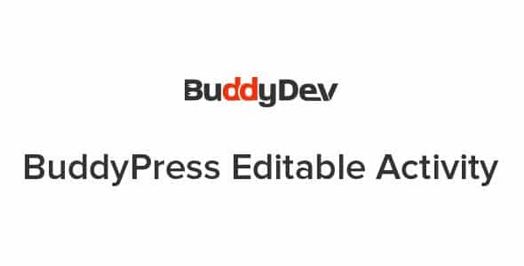 Plugin BuddyPress Editable Activity - WordPress