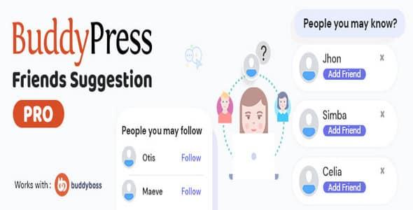 Plugin BuddyPress Friends Suggestions Pro - WordPress