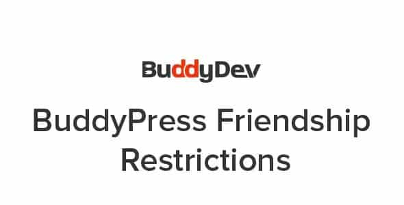 Plugin BuddyPress Friendship Restrictions - WordPress