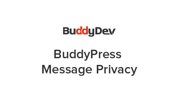 Plugin BuddyPress Message Privacy - WordPress