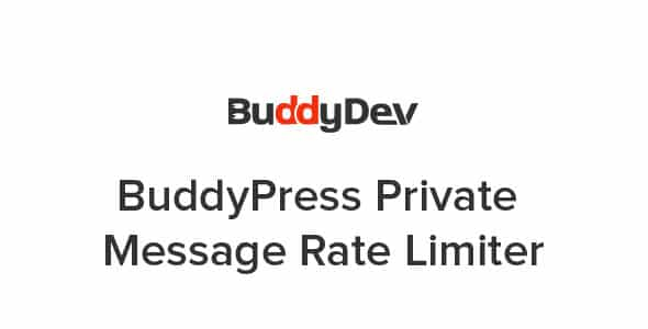 Plugin BuddyPress Private Message Rate Limiter - WordPress