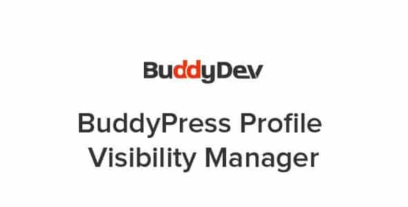 Plugin BuddyPress Profile Visibility Manager - WordPress
