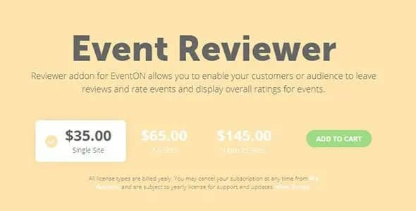 Plugin EventOn Reviewer - WordPress