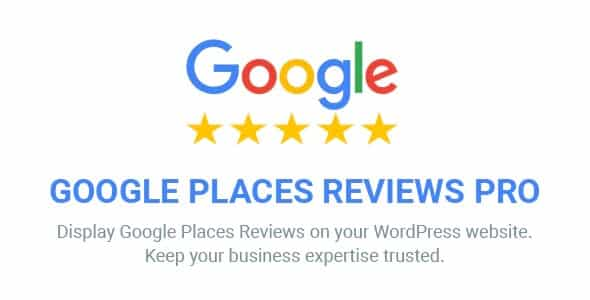 Plugin Google Places Reviews Pro - WordPress