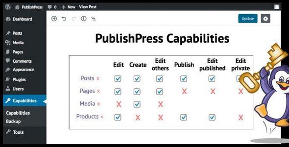 Plugin PublishPress Capabilities Pro - WordPress