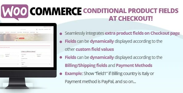 Plugin WooCommerce Conditional Product Fields at Checkout - WordPress