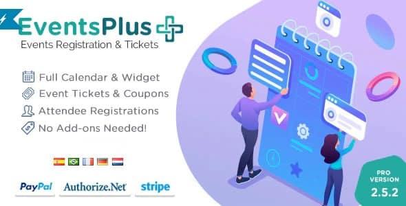 Plugin WordPress Events Calendar Registration Tickets - WordPress