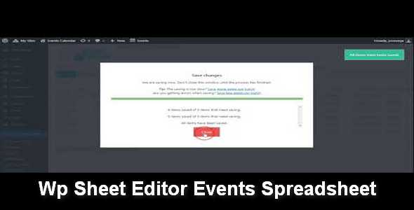 Plugin Wp Sheet Editor Events Spreadsheet - WordPress