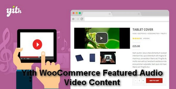 Plugin Yith WooCommerce Featured Audio Video Content - WordPress