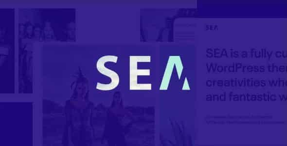 Tema Gallery Sea - Template WordPress