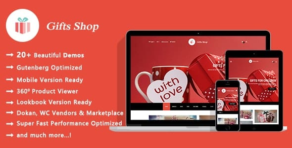 Tema Gifts Shop - Template WordPress