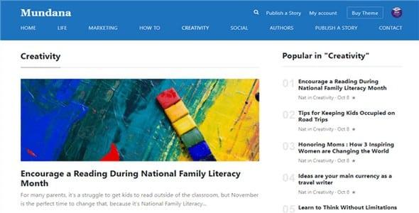 Tema Mundana - Template WordPress