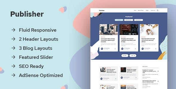 Tema Publisher mythemeshop - Template WordPress