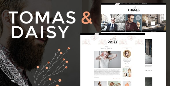 Tema Tomas and Daisy - Template WordPress