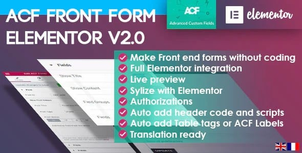 Plugin Acf Front Form for Elementor Page Builder - WordPress