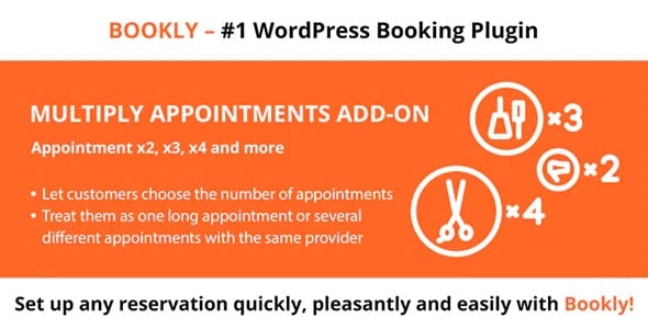 Plugin Bookly Multiply Appointments Addon - WordPress