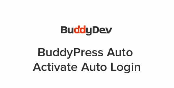 Plugin BuddyPress Auto Activate Auto Login - WordPress