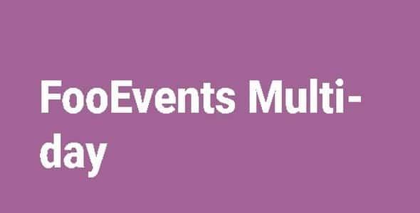 Plugin FooEvents Multi-day - WordPress