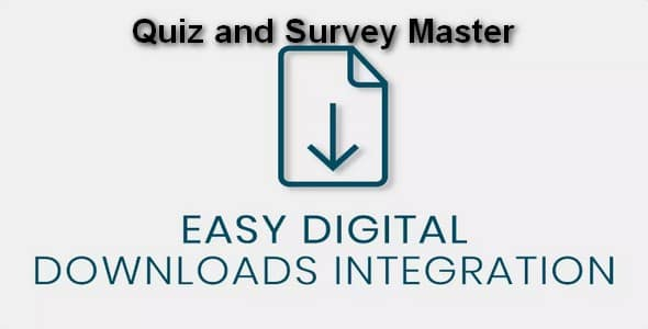 Plugin Quiz and Survey Master Easy Digital Downloads Integration - WordPress