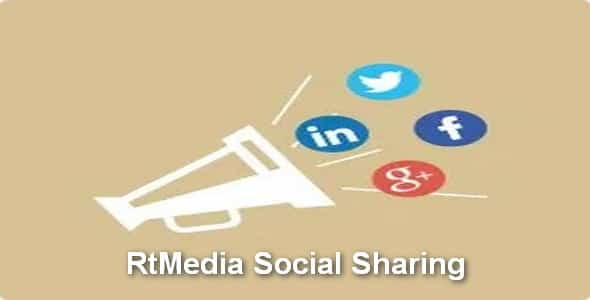 Plugin RtMedia Social Sharing - WordPress