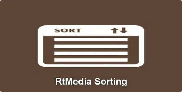 Plugin RtMedia Sorting - WordPress