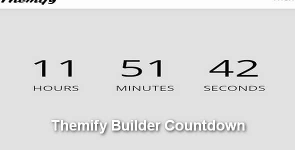 Plugin Themify Builder Countdown - WordPress