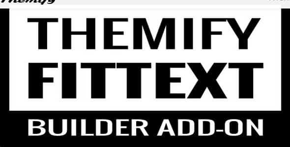Plugin Themify Builder FitText - WordPress