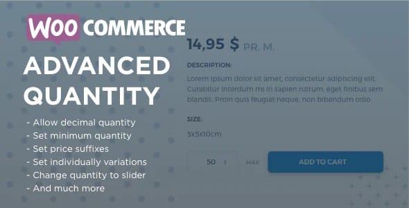 Plugin WooCommerce Advanced Quantity - WordPress