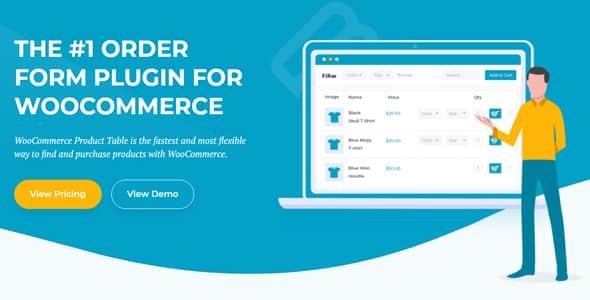 Plugin WooCommerce Product Table - WordPress