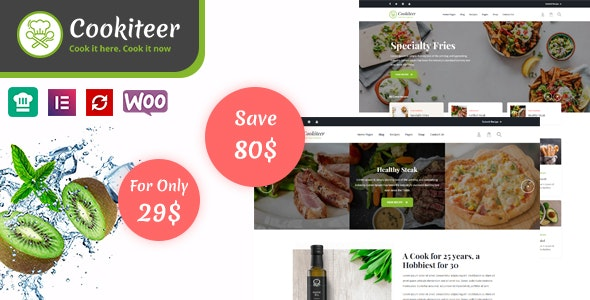 Tema Cookiteer - Template WordPress