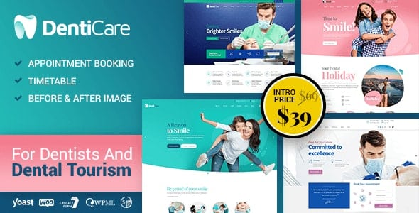 Tema Denticare - Template WordPress