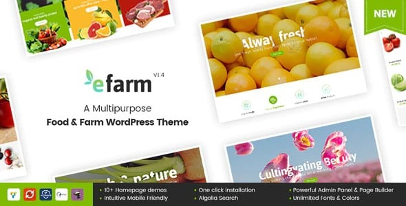 Tema Efarm - Template WordPress