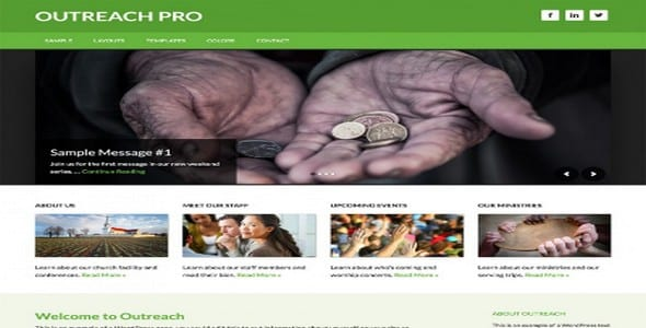 Tema Outreach Pro - Template WordPress