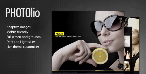 Tema Photolio - Template WordPress