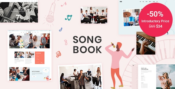 Tema Songbook - Template WordPress