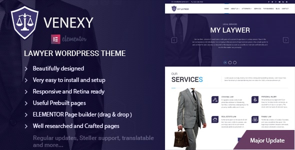Tema Venexy - Template WordPress
