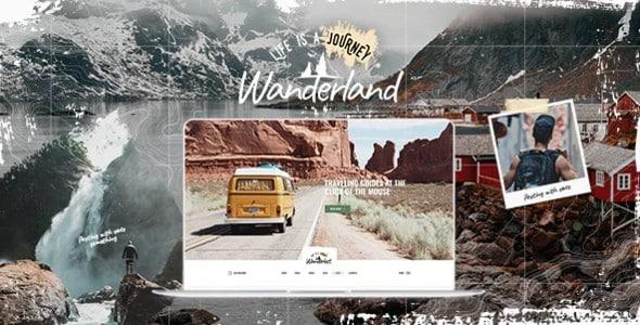 Tema Wanderland - Tempalte WordPress