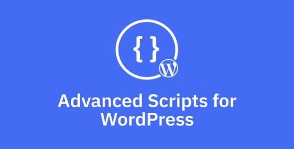 Plugin Advanced Scripts - WordPress